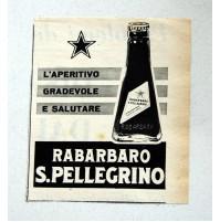 PUBBLICITA' 1957 RABARBARO S. PELLEGRINO  RITAGLIO GIORNALE