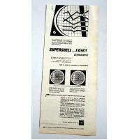 PUBBLICITA' 1957 SHELL SUPERSHELL BENZINA  RITAGLIO GIORNALE vintage