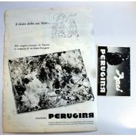 PUBBLICITA' 1958 CIOCCOLATINI BACI PERUGINA 2pz 28X38 CM RITAGLIO GIORNALE