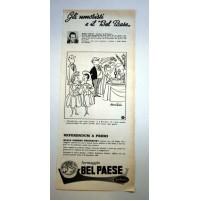PUBBLICITA' 1958 FORMAGGIO BEL PAESE GALBANI IRWIN CAPLAN  ritaglio giornale