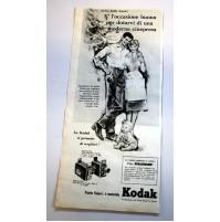 PUBBLICITA' 1958 KODAK NATALE KODACHROME 16,5X36 CM RITAGLIO GIORNALE