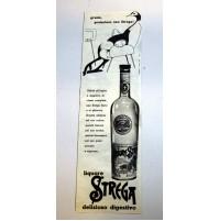 PUBBLICITA' 1958 LIQUORE DIGESTIVO STREGA 10,5X35,5 CM ritaglio giornale