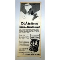 PUBBLICITA' 1958 OLA' PALMOLIVE DETERSIVO BUCATO  RITAGLIO GIORNALE