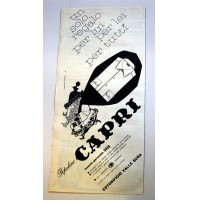 PUBBLICITA' 1958 POPELINE CAPRI COTONIFICIO VALLE SUSA  ritaglio giornale