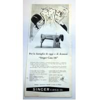 PUBBLICITA' 1958 SINGER CASA 191 VIA DANTE MILANO  RITAGLIO GIORNALE