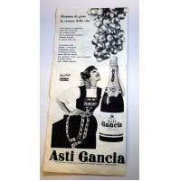 PUBBLICITA' 1958 SPUMANTE ASTI GANCIA  RITAGLIO GIORNALE