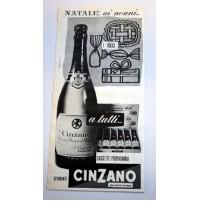 PUBBLICITA' 1958 SPUMANTI CINZANO