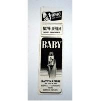PUBBLICITA' 1958 YOMO YOGURT -NOVELLEFILM -BABY RAVVIVATORE  RITAGLIO GIORNALE