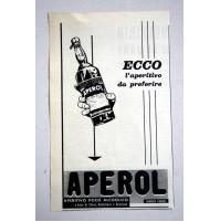 PUBBLICITA' 1961 APEROL BARBIERI aperitivo vintage RITAGLIO GIORNALE