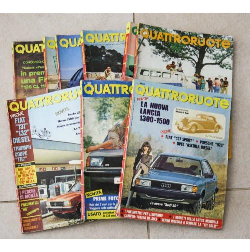 QUATTRORUOTE ANNATA ANNO 1986 10 NUMERI LOTTO RIVISTA MENSILE AUTO VINTAGE