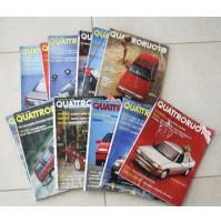 QUATTRORUOTE ANNATA COMPLETA ANNO 1990 12 NUMERI LOTTO RIVISTA MENSILE AUTO