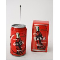 RADIO LATTINA COCA COLA AM FM VINTAGE STILE CON SCATOLA POP ART ANTENNA