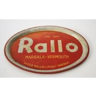 RARO VASSOIO RALLO MARSALA VERMOUTH BAR PUBBLICITARIO VINTAGE anni 50 60 DIEGO