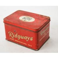 RIDGWAYS LIMITED MERCHANTS TEA ENGLAND SCATOLA IN LATTA VINTAGE ANNI 60 70 VUOTA