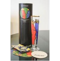 RITZENHOFF Bicchiere Birra in vetro DESIGN AMBROGIO POZZI Collezione 1997