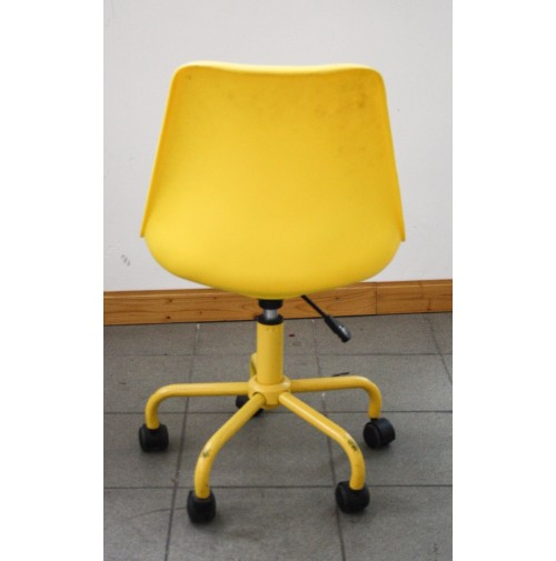 Sedia vintage gialla design tipo panton con ruote chair for Sedia design panton