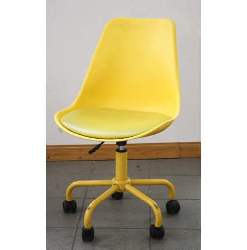 Sedia vintage gialla design tipo panton con ruote chair for Sedia design anni 80