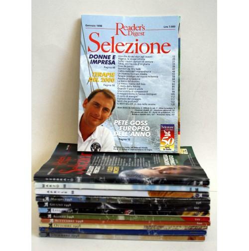 SELEZIONE READER'S DIGEST LOTTO 12 NUMERI ANNO 1998 ANNATA COMPLETA