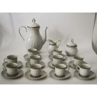 SERVIZIO DA CAFFè X10 REGINA SELTMANN WEIDEN Bavaria Porcellana VINTAGE ANNI 70