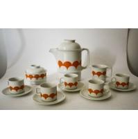 SET SERVIZIO DA CAFFè Hutschenreuther Arzberg Bavaria Porcellana VINTAGE ANNI 70