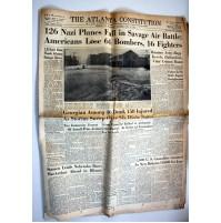 THE ATLANTA CONSTITUTION NEWSPAPER RIVISTA 1944 FINE SECONDA GUERRA MONDIALE