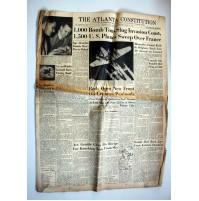 THE ATLANTA CONSTITUTION NEWSPAPER RIVISTA 1944 FINE SECONDA GUERRA MONDIALE 2