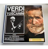 VERDI DIRETTO DA TOSCANINI 8 LP 33 GIRI AIDA LA TRAVIATA
