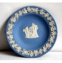 WEDGWOOD PIATTO IN CERAMICA PIATTINO PLATE JASPER WARE LIGHT BLUE VINTAGE