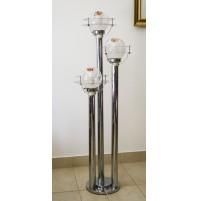 PIANTANA LAMPADA DESIGN MAZZEGA CHROMED FOOR LAMP ANNI 70 SATELLITE MURANO